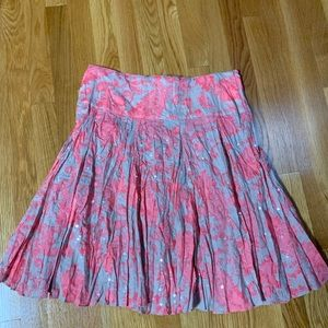INC crinkle skirt ... Size 10. Bright coral/pink